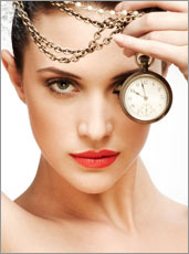 Beautiful Woman with Clock