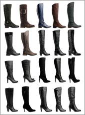 Various Types of Knee High Boots