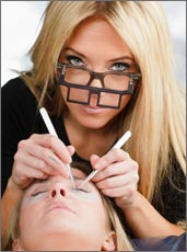 Woman Having Eyelash Extensions